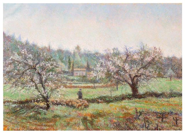 Hughes Claude Pissarro (French, born 1935) Amandiers en Provence