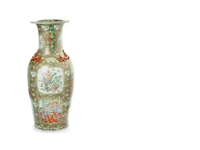 A large Cantonese floor vase early 20th century