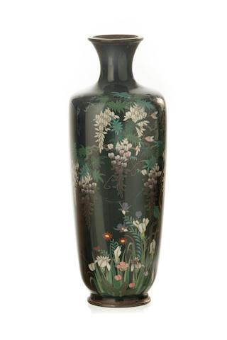 A Japanese cloisonné vase Meiji Period