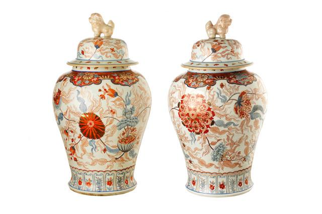 A large pair of general jar circa 1900