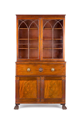 An Irish Regency mahogany secretaire bookcase First quarter of the 19th century