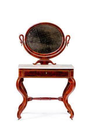 An early 19th century Danish mahogany dressing table
