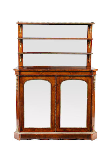 A mid-Victorian figured walnut chiffonier