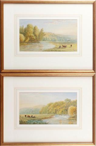 Cornelius Pearson (British, 1805-1891) Scene near Otterton; Scene near Topsham (2)