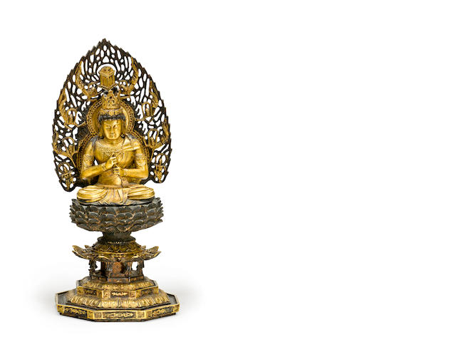 A Japanese gilt bronze Buddha 20th century