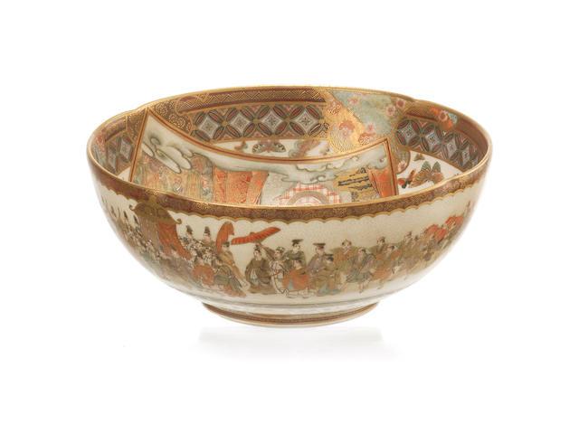 A satsuma bowl Kaizan Sei, Meiji Period