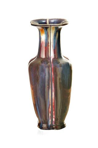 A Chinese quatrefoil flambé vase 18th/ 19th century
