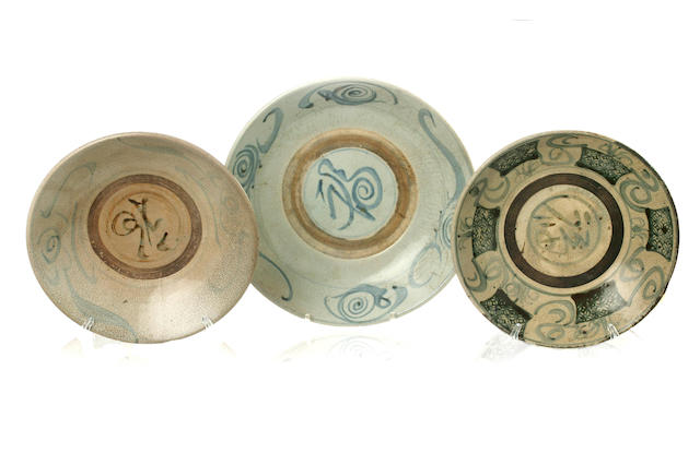 Twelve shipwreck plates 17th - 19th century