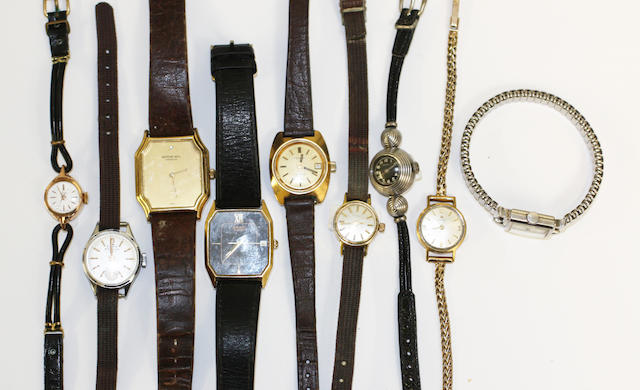 A collection of nine wristwatches, (9)