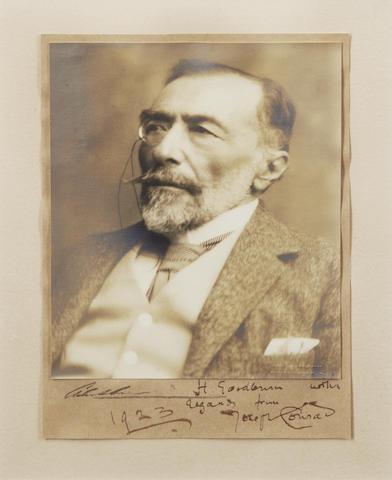 CONRAD (JOSEPH) Photographic portrait by Malcolm Arbuthnot RI, [1919]