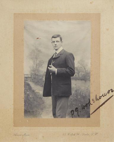 WODEHOUSE (PELHAM GRENVILLE) Photographic portrait by Florence Mason, of 23 Walpole Street, London, undated