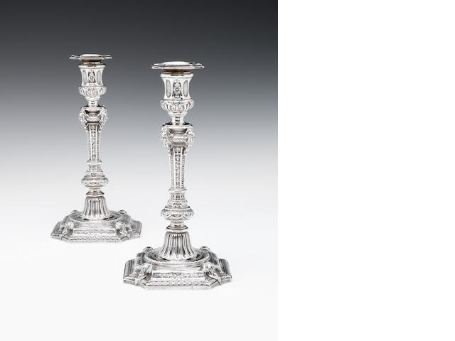 A pair of candlesticks, Queen Victoria
