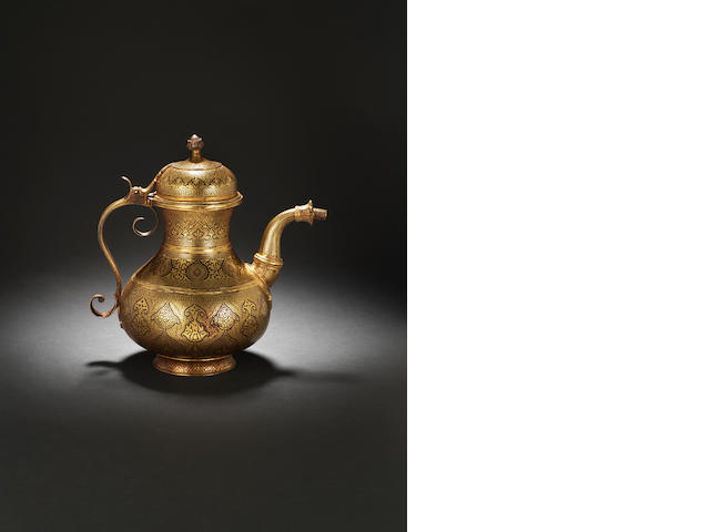 ewer, gold, late 19th century