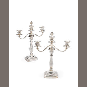 A pair of late Victorian silver candelabras By Horace Woodward & Co Ltd, London 1897  (2)