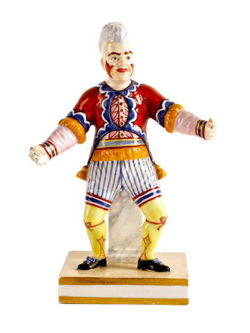 A Bloor Derby figure of Joseph Grimaldi, circa 1830-40