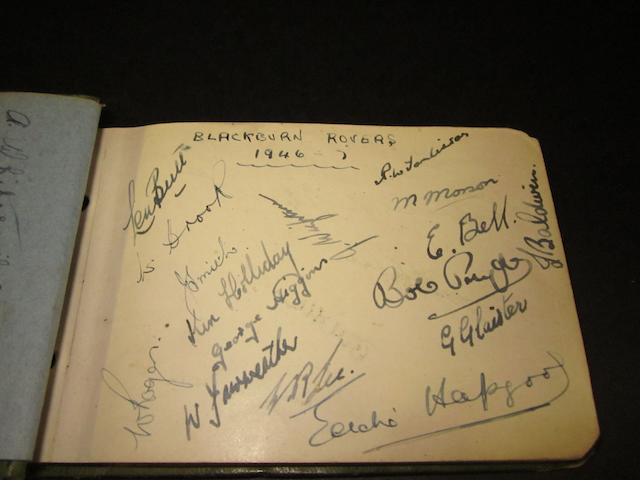 1940's autograph book containing Football and Olympic Athletes
