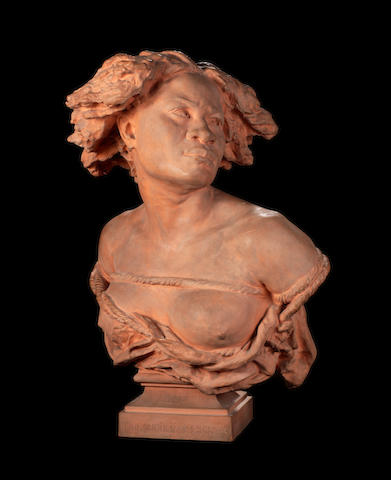 Jean-Baptiste Carpeaux, French (1827-1875) A terracotta bust of La Négresse