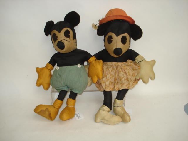 Mickey and Minnie mouse cloth toys, 1930's 3