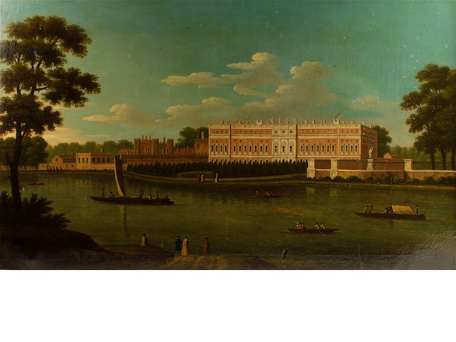 Circle of Joseph Nichols (British, 1692-1760) View of Hampton Court Palace