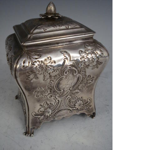 18th century silver tea caddy