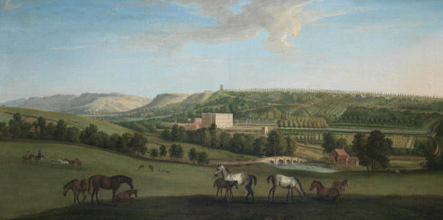 Peter Tillemans (Antwerp 1684-1734 Norton) A View of Chatsworth House and Park from the south-west