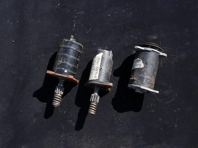 A lot consisting of two starter motors for an Aston Martin DB, and one DB generator,