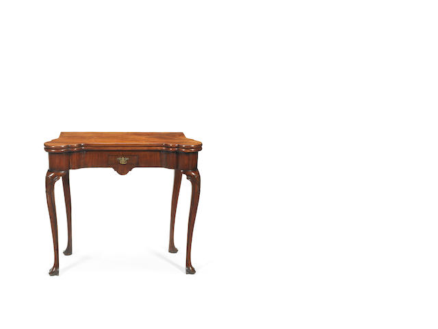 A George II Irish mahogany tea table