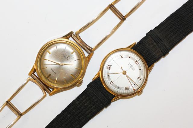 A gents Movado and Glycine wristwatch