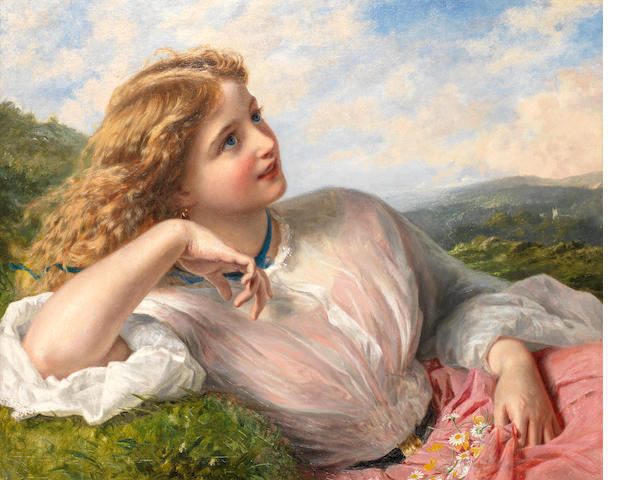 Sophie Anderson (British, 1823-1903) The song of the lark