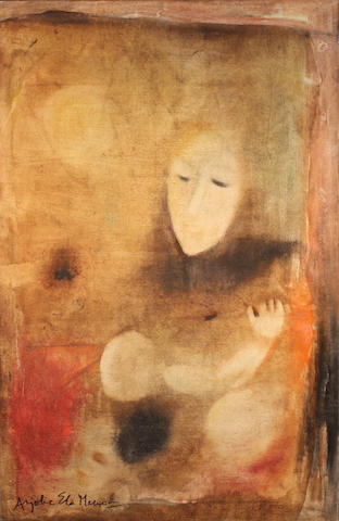 Anjolie Ela Menon (India, born 1940) Mother and Child