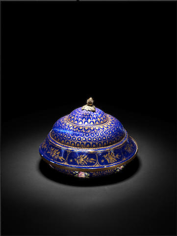 An Ottoman Süleymaniye ware enamelled covered Dish Turkey, late 18th Century(2)