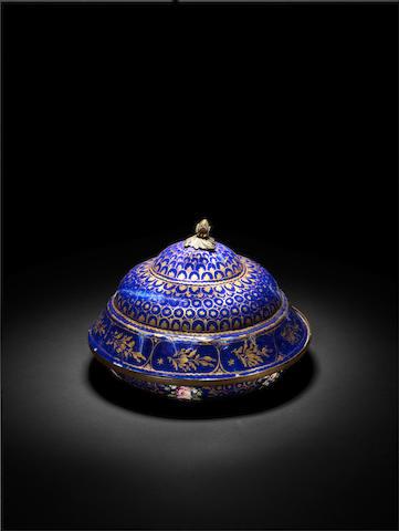 An Ottoman enamel covered Bowl