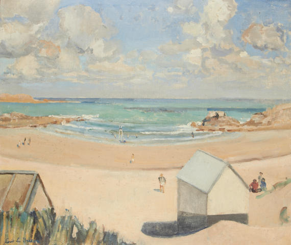 Louis le Breton (French, 1909-1957) Beach scene
