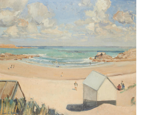 Louis Le Breton (French, 1818-1866) Beach scene