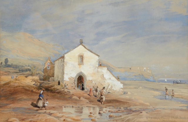 Frank Dillon (British, 1823-1909) The chapel of Robert Machin, Machico, Madeira
