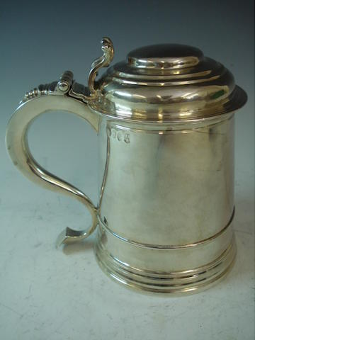 A George I silver tankard, by James Kirkup, Newcastle 1725