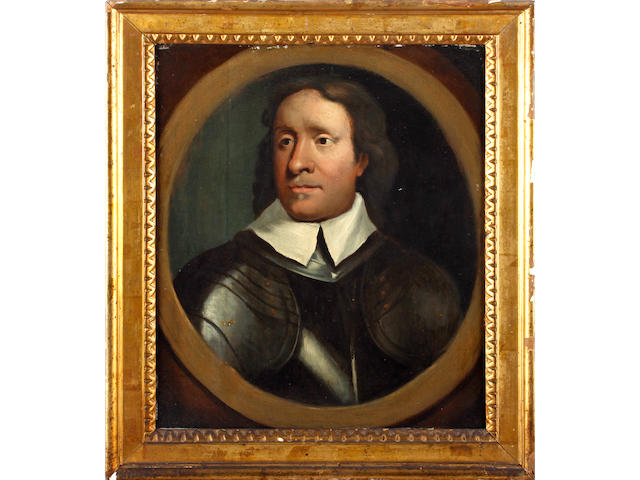 Circle of Robert Walker (British, 1607-1658) Portrait of a Cromwellian officer in armour