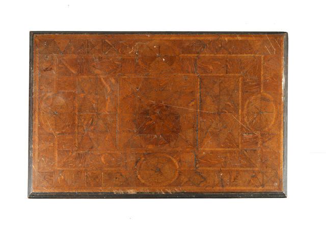 A Charles II oak parquetry top table