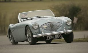 James Knight road testing the Austin Healey 100