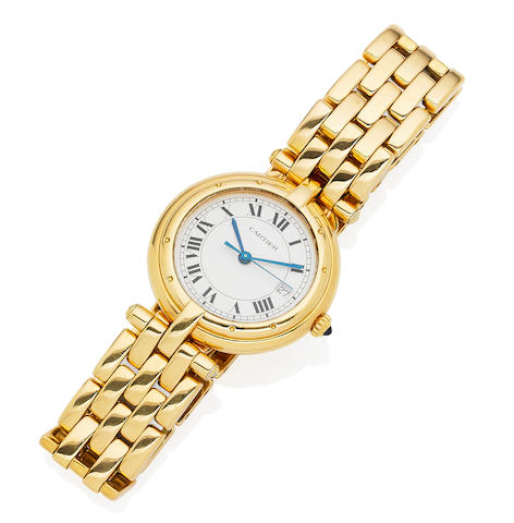 An 18 carat gold lady's 'Panthère Vendôme' bracelet watch,  by Cartier
