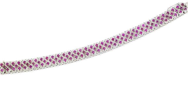 A ruby bracelet