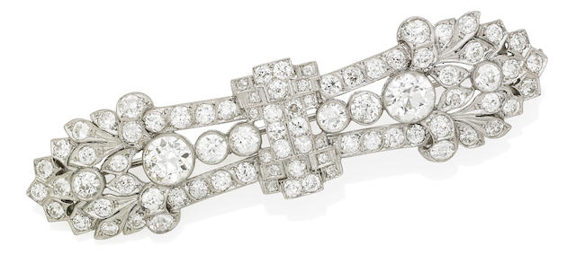 A diamond brooch, by Prouds