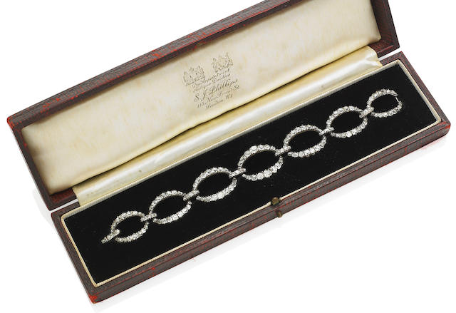 A late George III diamond bracelet,