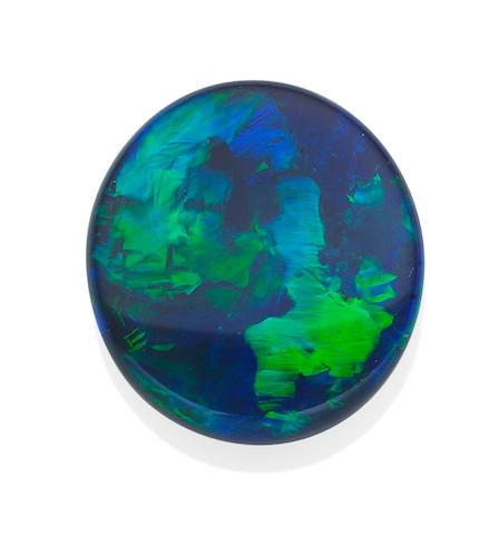 A loose black opal