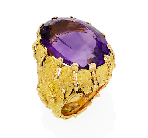 An amethyst cocktail ring, by Buccellati