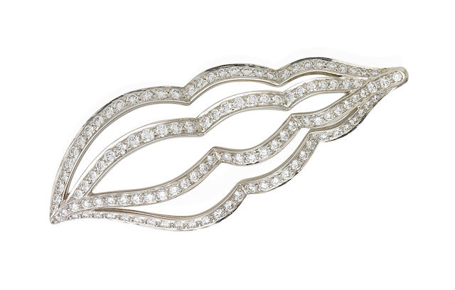 A diamond brooch, by Tiffany & Co.,