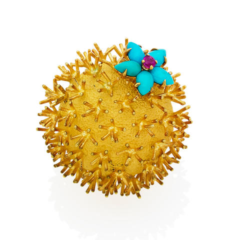 A gem-set novelty brooch, by Schlumberger for Tiffany & Co.