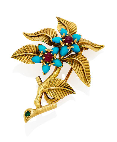 A gem-set brooch,  by Marchak Paris,