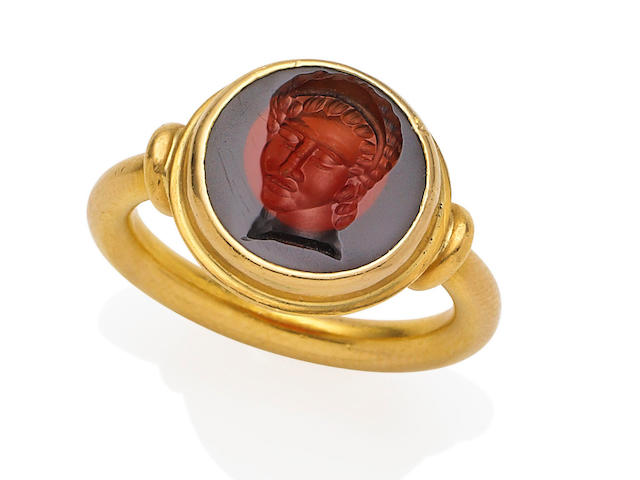 An intaglio ring