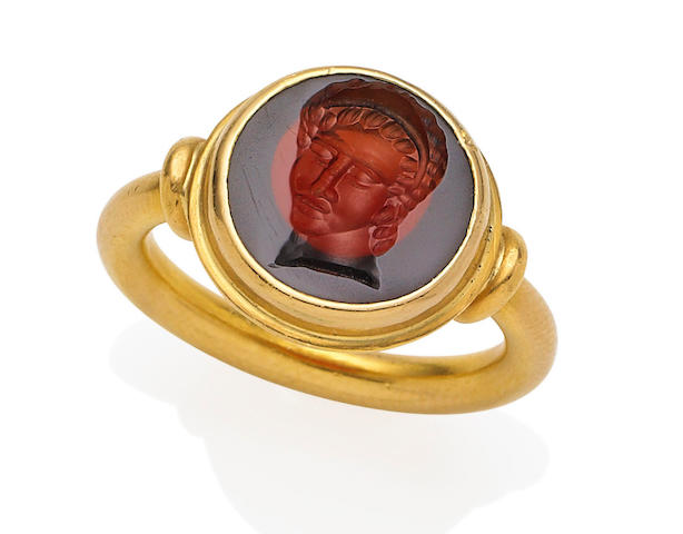 An intaglio ring